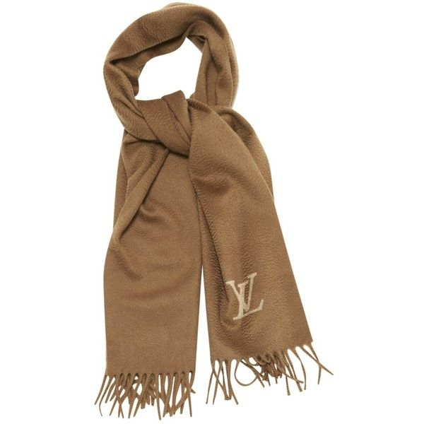 Pre-owned Louis Vuitton Scarf (€305) ❤ liked on Polyvore featuring accessories, scarves, brown, louis vuitton shawl, louis vuitton scarves, brown scarves, brown shawl and louis vuitton