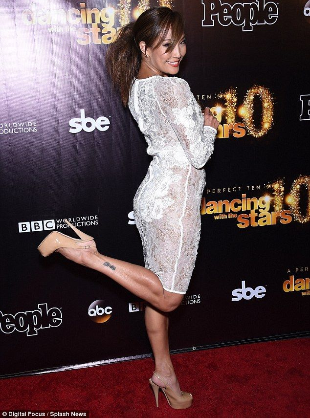Well hello there: Professional dancer Carrie Ann Inaba was amongst guests at Greystone Manor on Tuesday evening