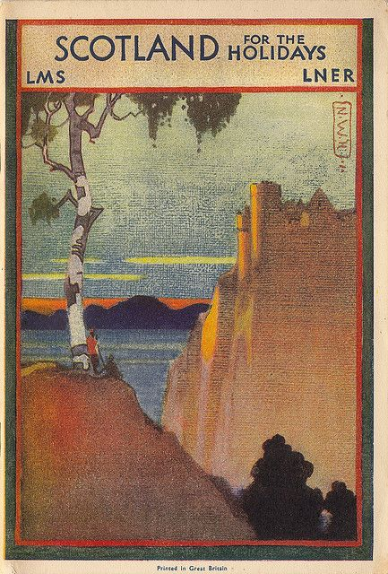 Vintage travel posters are a great source of art. I love the balance of this composition. very japonisme.   Research for possible future project.