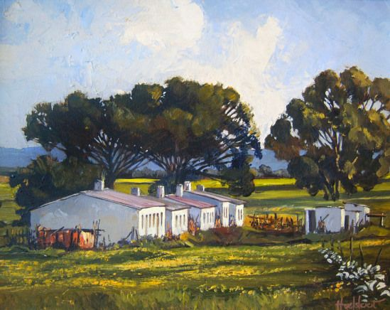 Ted Hoefsloot - Cottages Near Wellington (285 x 360) (SOLD)