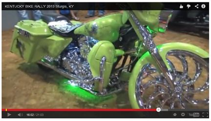 Preview of Video from the 2013 Kentucky Biker Rally/Little Sturgis Rally pictures   ----Green Bagger at Little Sturgis Rally  2014 Dates are JULY 17 to 20-----  **WATCH the VIDEO - www.lightningcustoms.com/littlesturgisrally.html ----- #kentuckybikerrally #littlesturgisrally