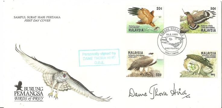 L@@K just 24 hours to go...Don't miss this!!! Sampul Surat Hari Pertama First Day Cover signed by the late Dame Thora Hird OBE L@@K!!!