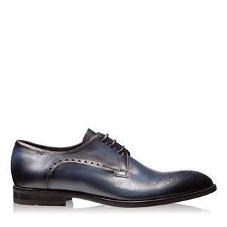 Pantofi barbati albastri 2828 piele naturala
