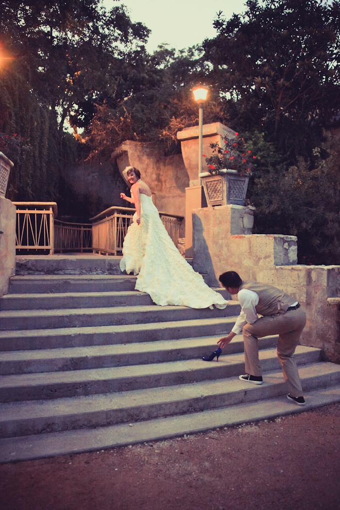 Cinderella Lost Her Shoe Bride Wedding Dresses Grimm Tales