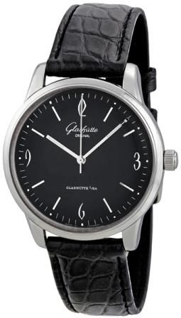 Glashutte Senator Black Dial Automatic Mens Watch
