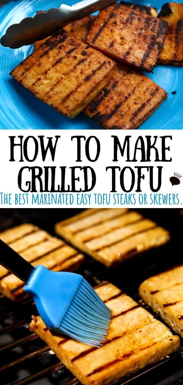 Grilled tofu that's bursting with flavor and that won't fall apart on the grill!…