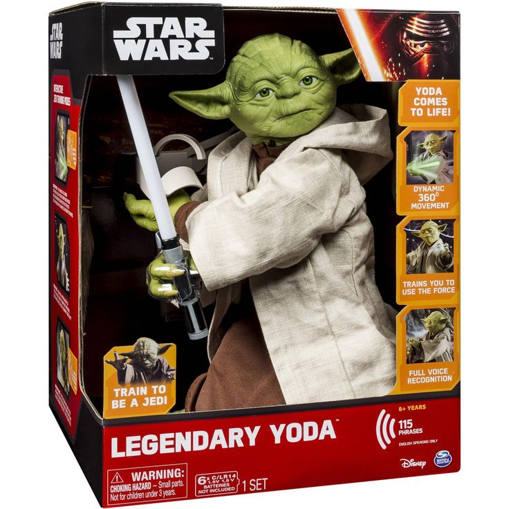 - Train to become a Jedi Master with Legendary Yoda! With breakthrough 360-degree movement, he'll instruct you using Force, Wisdom and Warrior modes. - Yoda's voice recognition makes him the most real