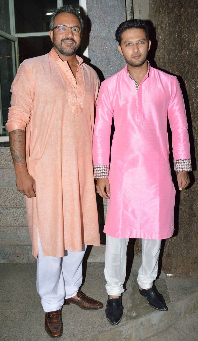 Apoorva Lakhia with Vatsal Sheth at Baba Dewan's #Diwali bash. #Bollywood #Fashion #Style #Handsome #Desi