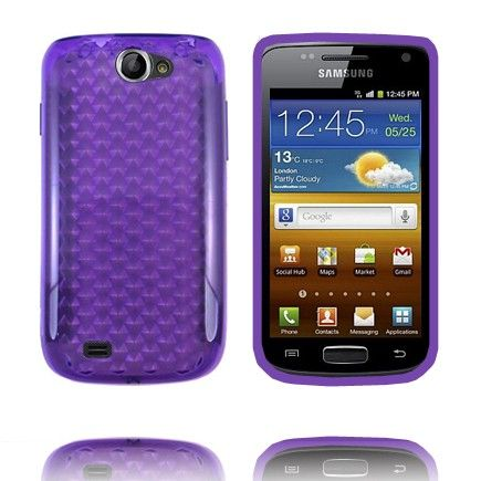 Kuutiot (Violetti) Samsung Galaxy W Silikonisuojus