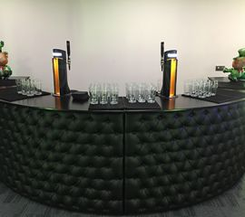 Mobile bars are advantageous over fixed bar as a mobile bar can be personalised to suit your requirements, along with bartenders who are sincere, trained and who maintain an air of professionalism throughout the event.