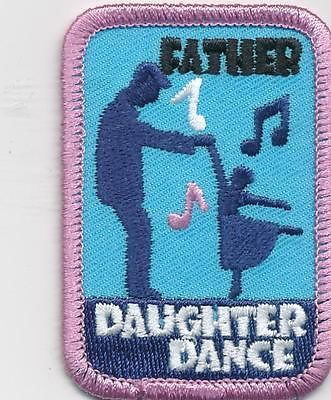 girl father daughter dance blue fun patches crests badges