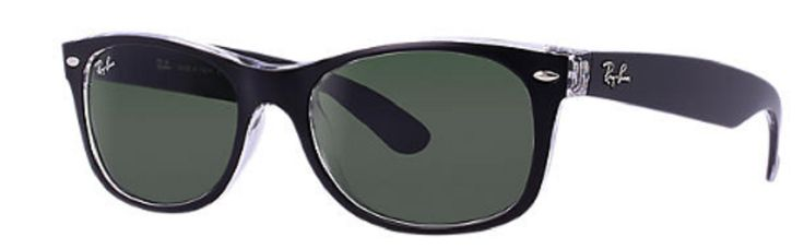 Ray-ban Men's New Wayfarer Rb2132-6052-55 Black Wayfarer Sunglasses