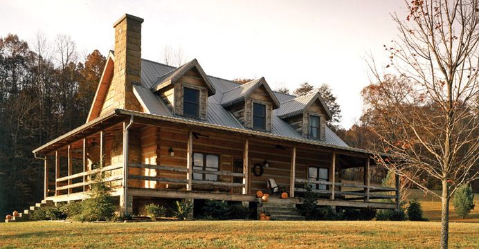 Log homes log cabins log home cabins stonemill log for Simple timber frame homes