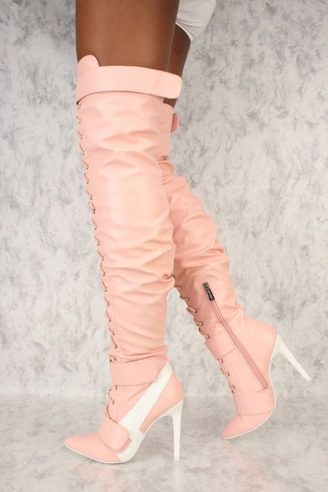 33109a0e377 Doll up with a casual look in these sneaker thigh highs! Features include