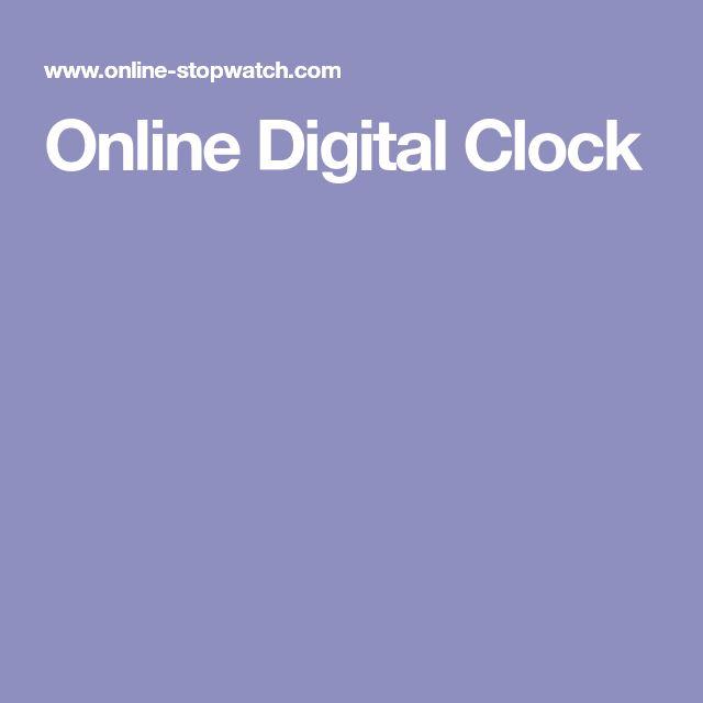 Online Digital Clock