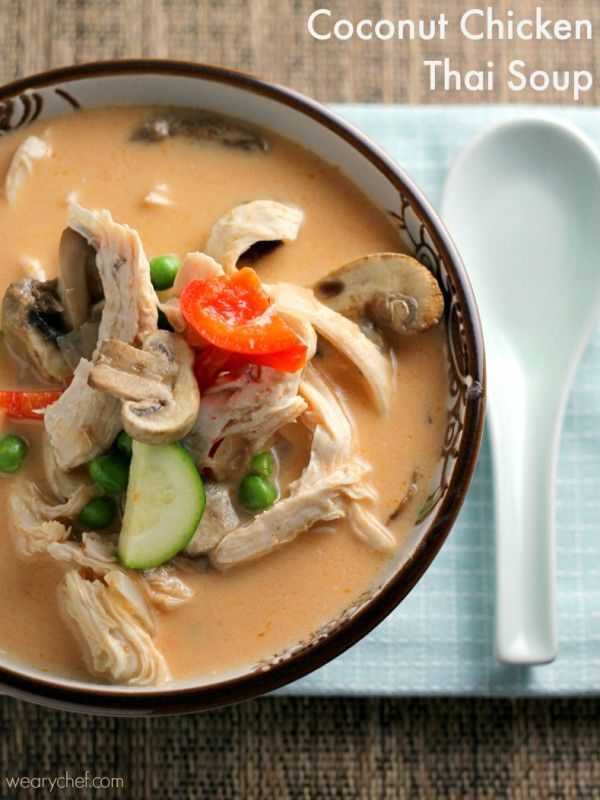 Coconut Chicken Thai Soup - This flavorful soup is just right for an easy dinner!
