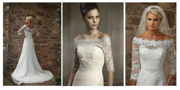 свадебные платья с кружевными рукавами #wedding #dress #wedding_dress