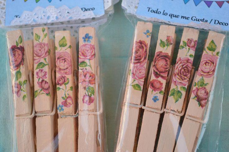 Broches de madera decorados https://www.facebook.com/todoloquemegustadeco