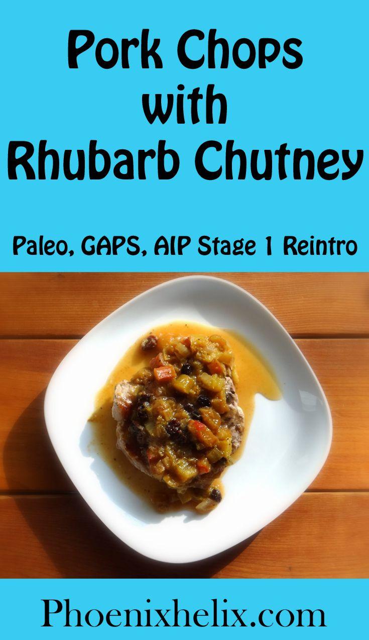 Pork Chops with Rhubarb Chutney | Phoenix Helix