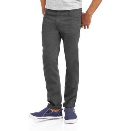 Oh Mamma Maternity Demi Panel Stretch Skinny 5 Pocket Jeans with Contrast Stich Pockets, Gray