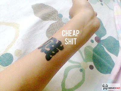 Bitch, Shit, Cheap....a very bad word for your tattoo!