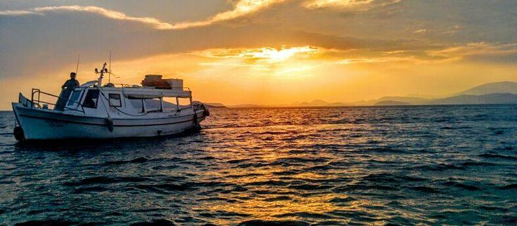 Sunset in Hydra