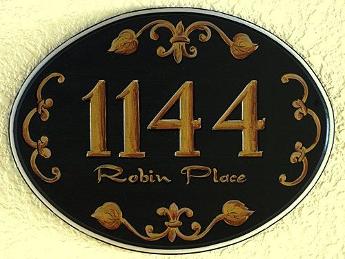 Custom home & name address plaques  personalized by decorativeart, $42.00