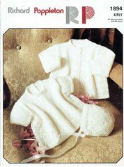 7f2aee55afb7e0 Richard Poppleton 1894 baby dress and matinee coat vintage knitting pattern