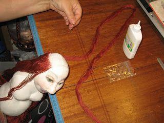 марина баданина: МК - волосы куклы