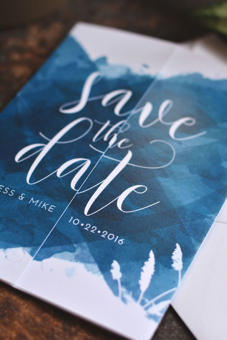 Custom Save The Dates sea blue save the dates, beach wedding, beach save the dates, pacific blue save the dates, watercolor save the dates, rehoboth beach, rehoboth wedding #weddingstationery #customstationery #beachsavethedate #beachwedding #rehobothbeachwedding