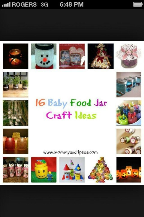 16 Fun Baby Food Jar Craft Ideas Might As Well Reuse The Jars Once She Is Eating