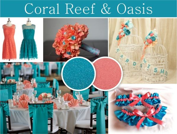 Coral Reef And Oasis Color Combination Beach Themed Wedding