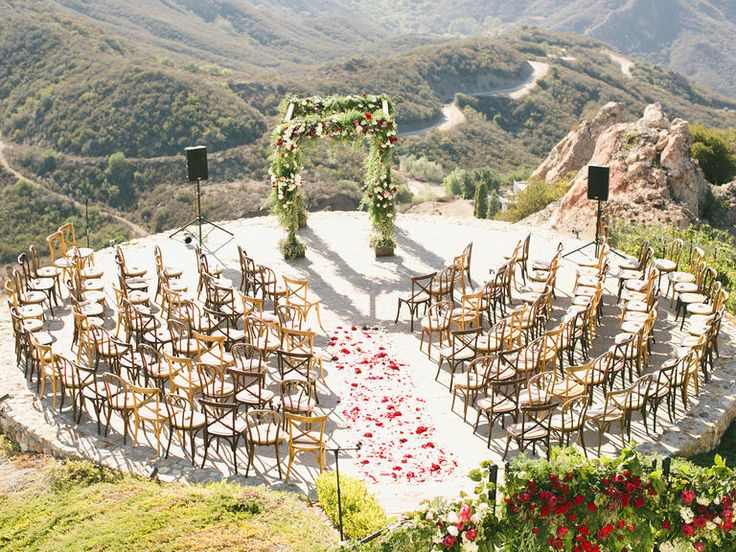 Give guests a better view of your faces during ceremony - set up chairs in a circle or semi-circle