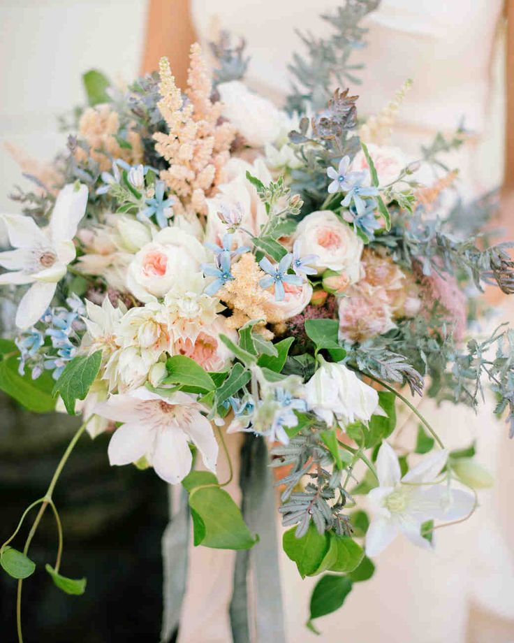 A Surprise Wedding At The Bride S Rose Farm In California: 83 Best Images About Blue And White Bouquets On Pinterest