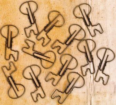 Prima Marketing - Engraver - Keys - Shaped Metal Paper Clips