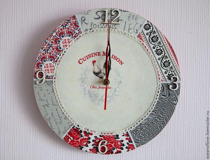 Купить Часы настенные CUISINE MAISON. НА КУХНЕ У ЖАКЛИН - комбинированный, белый, кантри