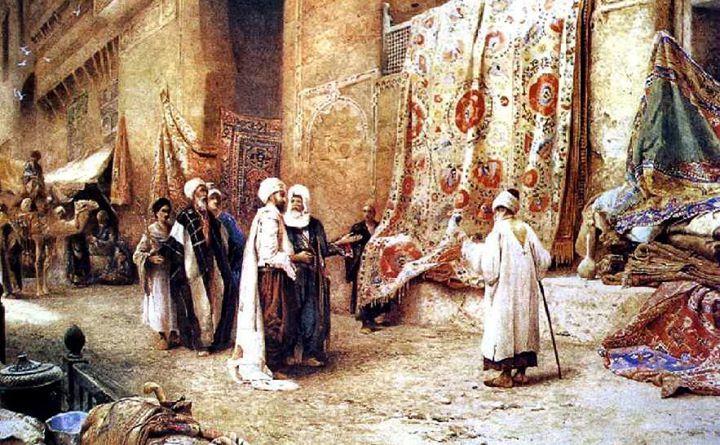 Details From The Carpet Market Of Khan El Khalili Cairo