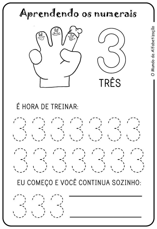 Aprendendo os numerais - Numero um