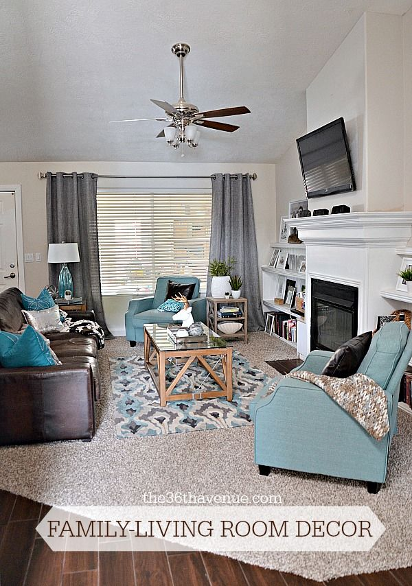 coloured living room furniture brown teal rooms colors chalk paint