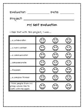 After collaborating on a project, students complete this self-evaluation created by Marianne Patterson. They assess their effectiveness as a colla...