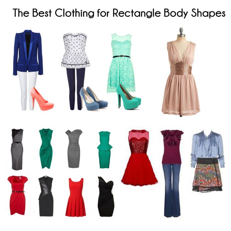 Rectangle Body Shape, Straight Body 64