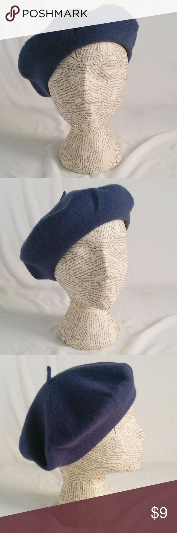 """Hollywood Wool Beret So berets are trending again? That's what I heard...so why not try out this beautiful blue. Super soft wool, once worn on stage. Otherwise in excellent condition.  Brand: Hot in Hollywood Size: 24""""  Color: Royal Blue Fabric: 100% Wool Care: Dry Clean Imported Excellent Used Condition  Reasonable Offers Welcome! Bundle and Save on Shipping! Hot in Hollywood Accessories Hats"""