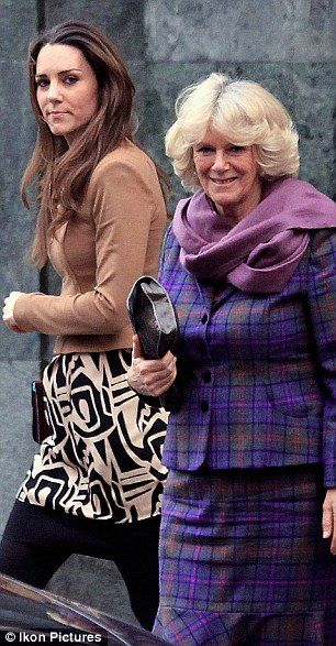 Catherine Middleton and Camilla, Duchess of Cornwall after lunch. A less than impressed Kate !!