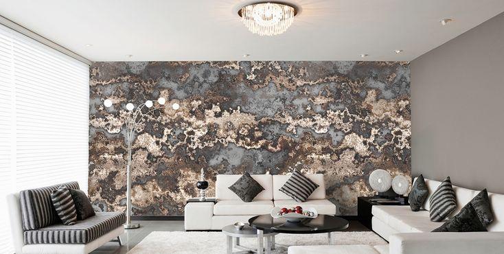 Attraktiv Ehrfürchtig Wohnzimmer Ideen Wandgestaltung Grau