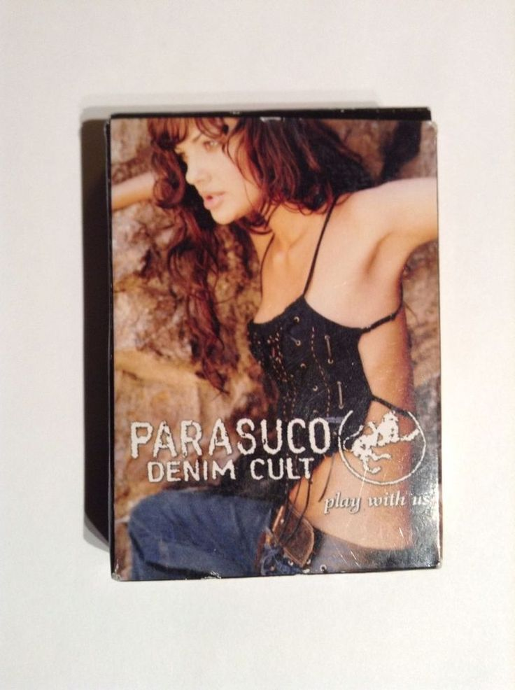 Hot! PARASUCO FASHION MODELS Collectible PLAYING CARDS Denim Cult Jeans NIB  #Parasuco
