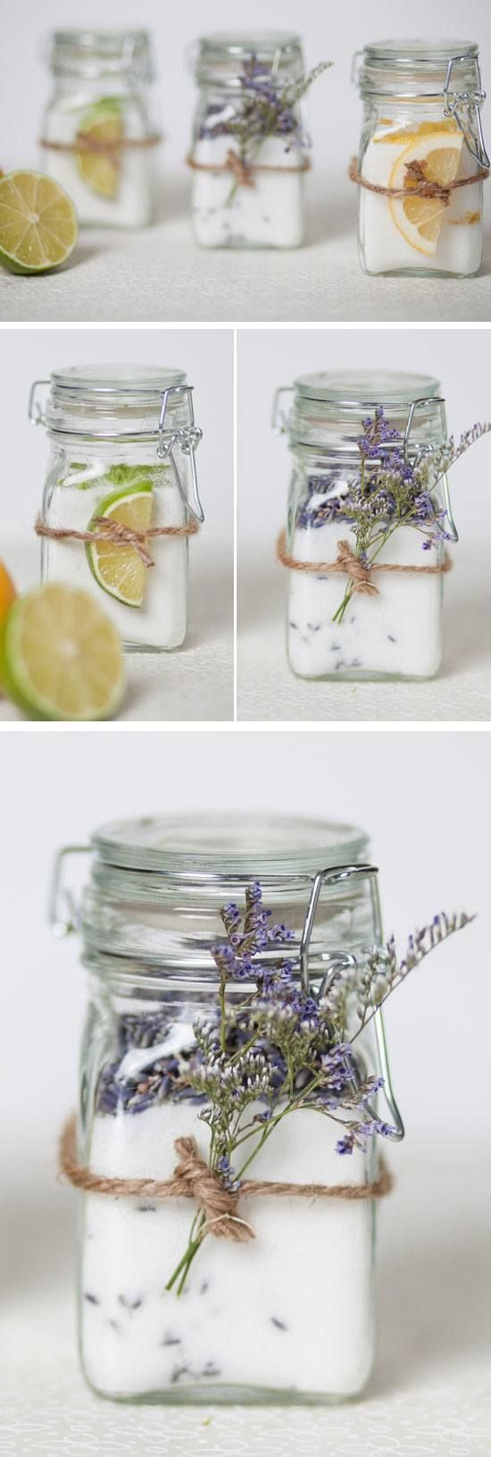 Infused Sugar Jars   DIY Bridal Shower Party Ideas on a Budget