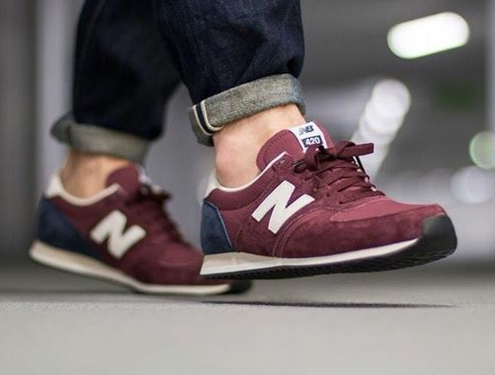 New Balance  Vintage Suede Shoes Burgundy White