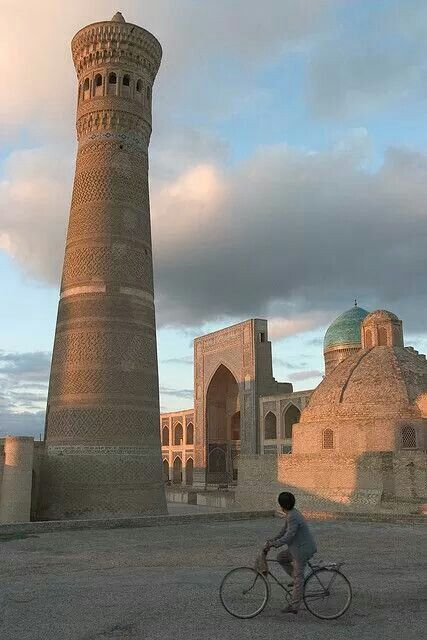 images about A  MOSQUES WORLDWIDE on Pinterest   Umayyad     Pinterest This is the Kalyan Masjid and is one of the outstanding monuments of Bukhara  dating