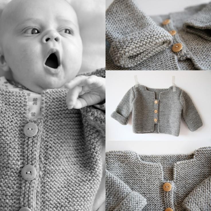 les tricots de Granny: Le cardigan de Balthazar © - Taille 6 mois tuto