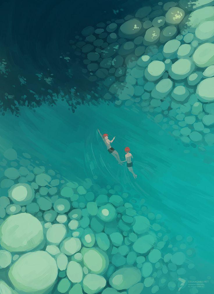 andatsea:  Lost children upriver.   Nadar. Agua. Verano.
